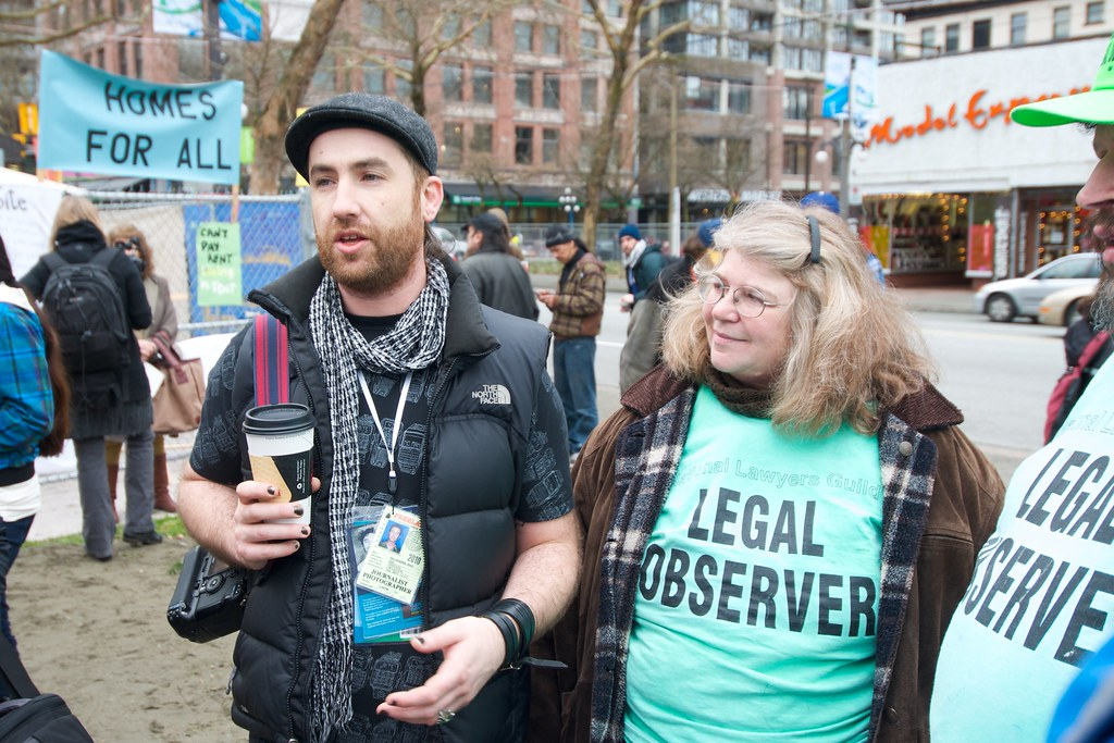 Kris Krug and Legal Observers at Olympic Tent Village