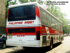 Philippine Rabbit Bus Line - Nissan Diesel SR Flexi - 2255 (Carbon_Tetrachloride) Tags: bus rabbit coach line works motor santarosa flexi sr 225 philippine prbl