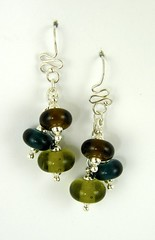 """Recycled Glass Bead Earrings • <a style=""""font-size:0.8em;"""" href=""""https://www.flickr.com/photos/37516896@N05/4362777378/"""" target=""""_blank"""">View on Flickr</a>"""