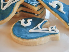 football shaped cook's illustrated butter cookies (super bowl) - New Orleans Saints & Indianapolis Colts - 85