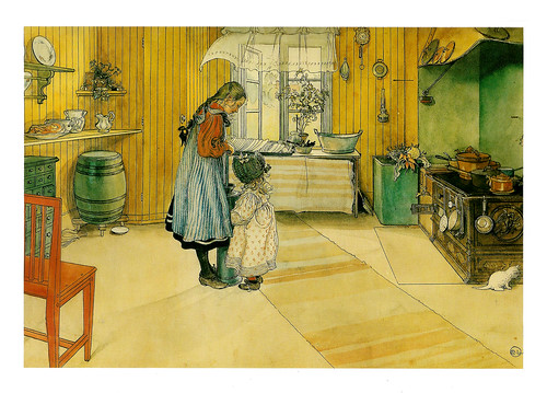 Carl Larsson 'The Kitchen'