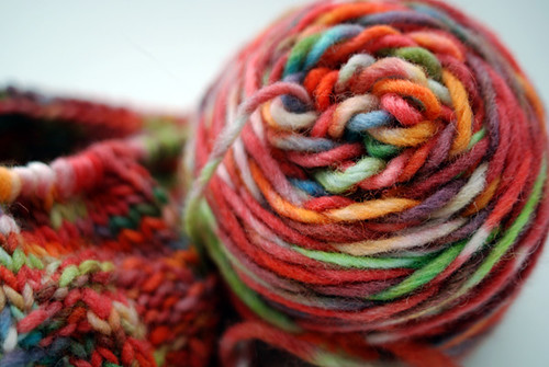 crock pot dyed yarn!