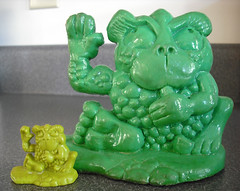 Freakies Cereal Cowmumble Sculpey Figure (gregg_koenig) Tags: old breakfast vintage box cereal magnets 70s sculpey bud 1970s goody ralston coupon deegan premiums freakies freakie cowmumble