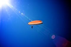 High, higher than the sun (kel-bel) Tags: blue sky orange sun u2 lensflare paragliding elevation paraglider monavale monavalebeach
