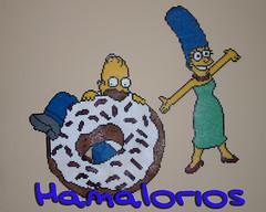 Homer y Marge Simpson en Hama Beads