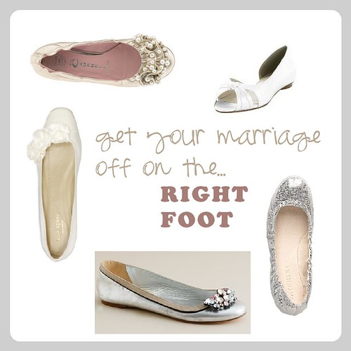 and now for my favorite flat wedding shoe look a pop color