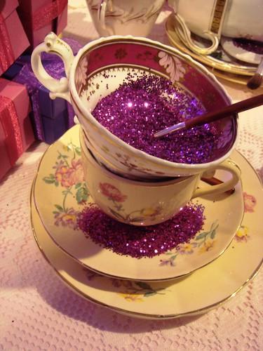 Glittery tea