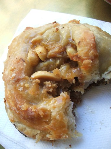 peanut butter banana walnut danish.