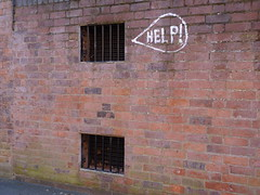 Help! (lydia_shiningbrightly) Tags: uk england urban streetart sign help leamington westmidlands warwickshire