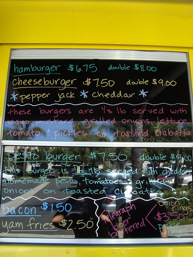 Burger Bus Menu