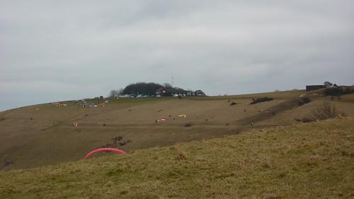 Paragliders on Edburton hill