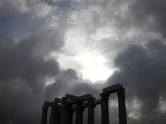 Greece 07 #83 (tt64jp) Tags: light cloud sun history sol archaeology silhouette greek temple soleil solar ancient ruins europe european ray cloudy religion hellas athens greece zeus sacred spiritual archeology  grce remain  ancientgreece attica olympian    archeologicalsite  templeofolympianzeus    lhistoire    attik