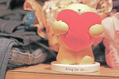 (D o 7 ε) Tags: bear red love hug heart you clothes gift