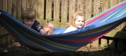 V & O on hammock