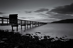 Candlestick Point, San Francisco (kevinthich) Tags: sanfrancisco california longexposure blackandwhite white storm black cold water clouds landscape pier rocks windy super filter bayarea blackdiamond candlestickpoint d90 tokina1224mm nd110