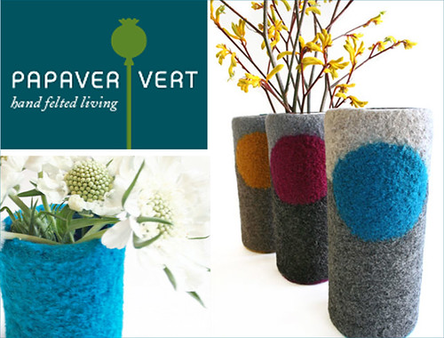 felted vases
