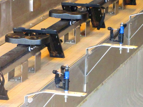 Closer look of the equipment at the Indoor Rowing Tank at the Richmond Oval