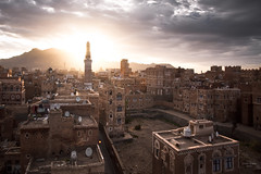 Sunrise over Sana'a (sadaiche (Peter Franc)) Tags: old sunrise town felix middleeast arabic arabia yemen sanaa oldtown sana muezzin calltoprayer arabiafelix