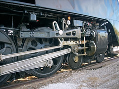 Wheels and Rods, Union Pacific Locomotive 844 (StevenM_61) Tags: railroad train texas wheels railway unionpacific locomotive northern rods cylinders fortworth steamlocomotive 484 valvegear drivingrod