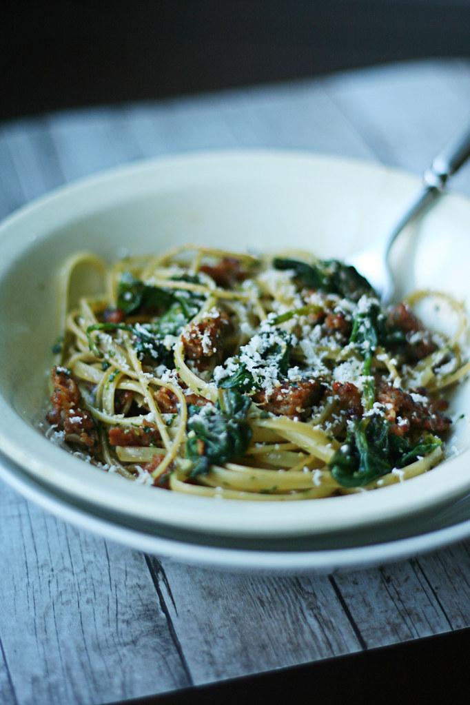 pesto with pasta!