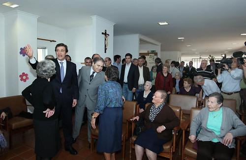 Pedro Passos Coelho visita Misericórdia de Peso Da Réguadia de Peso Da Regua