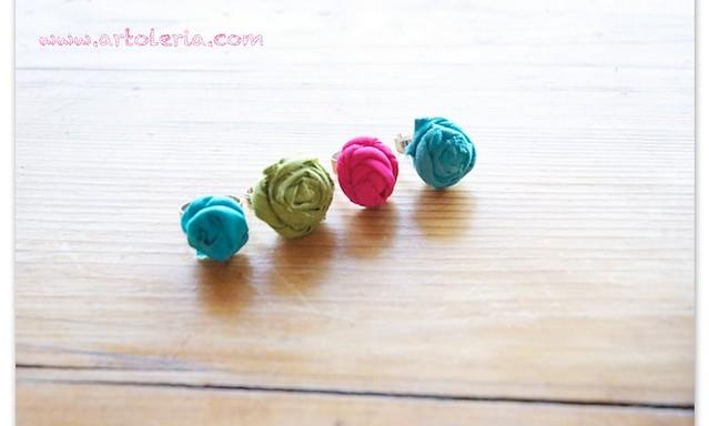 anelli di stoffa