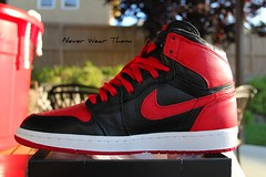 Nike Air Jordan 1 Banned (Never Wear Them) Tags: original red white black basketball 1 michael shoes air x nike jordan if imagine 1985 banned i
