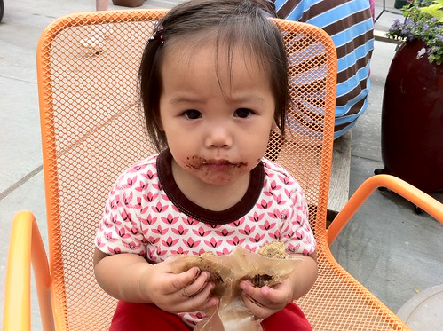 Sophie's 1st cookie (choc chip, vegan, and yummy!)
