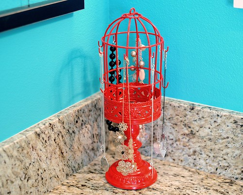 Birdcage Jewelry Holder with Necklaces