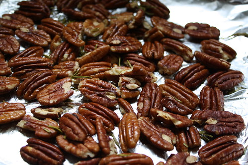 rosemary sea salt roasted pecans