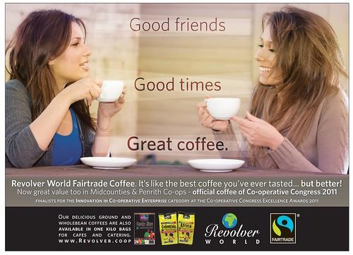 Revolver coffee advertisement