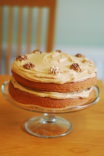Coffee & walnut father's day cake