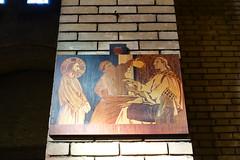 Station of the Cross @ Église Saint-Michel des Batignolles @ Paris (*_*) Tags: paris france europe city winter 2017 february saturday michael archangel eglisesaintmichel church christian catholic angel églisesaintmicheldesbatignolles batignolles brick