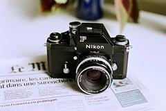 """Nikon F """"Apollo"""" (1973) on Fujifilm Superia 200 (fcafca) Tags: nikon black nikonf apollo nikonf2 photomic ftn nikkor 50mm f14 preai analog argentique camera 1973 fujifilm superia 200 200asa rawtherapee"""