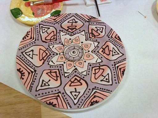 Painting a plate