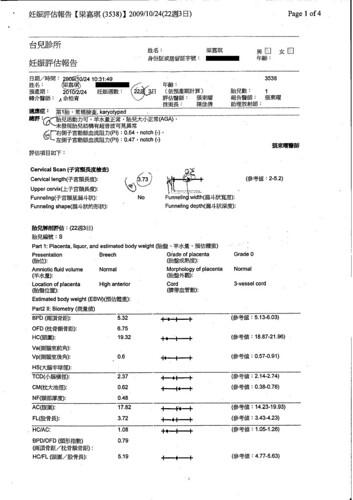 22週第二孕期高層次超音波檢查-1