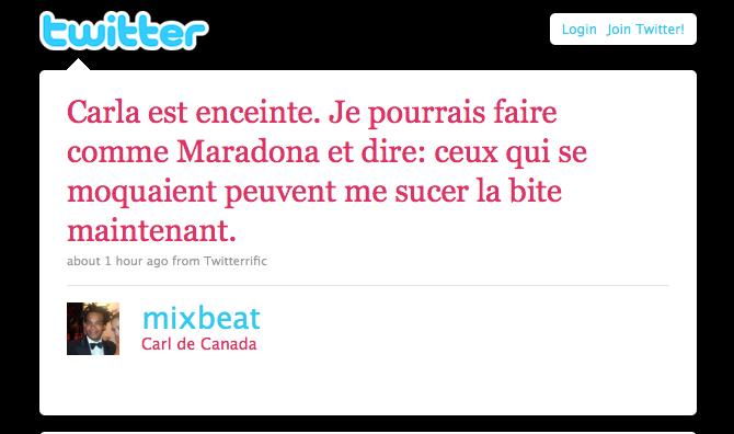 Twitter rumeur 2