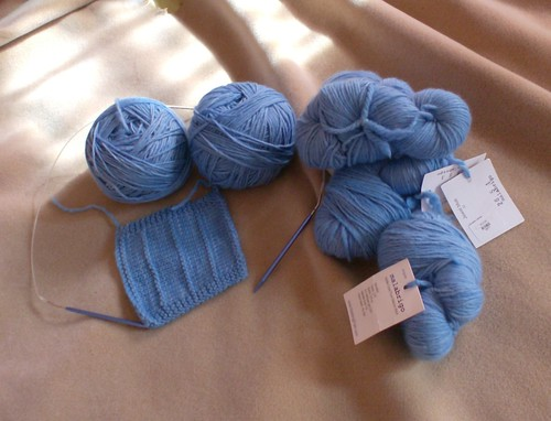 Jewel Blue hand dyed malabrigo yarn sweater for NaKniSweMo Mrs Darcy cardigan