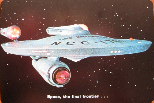 Star Trek postcard: the finap frontier...