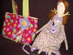 Bolsa Sapinhos 1 (annalobolsas) Tags: pink arte handmade flor artesanato rosa criana bags boneca patchwork bolsa tilda bolsas roxo mochila lao sapinho annalo