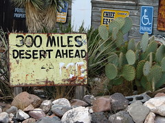300 Miles of Desert sign outside the Hackberry General Store, Hackberry, Arizona