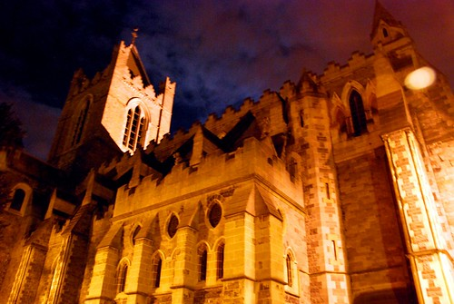 christchurch cathedral at night, dublin