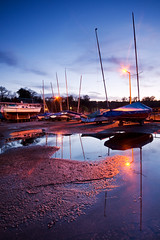 Port Edgar (Surely Not) Tags: reflection port puddle boats scotland nikon dusk south edgar queensferry d300 yourphototips thephotoproject
