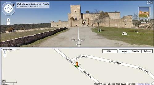 Pantallazos de Pedraza en Street View de Google Maps