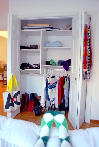 Messy, unedited, closet.