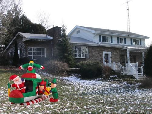 house with santa heli