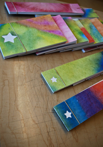 little notebooks ready to be buttoned up for the winter faire!