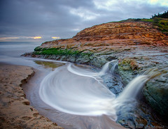 Natural Falls (Jay Tankersley Photography) Tags: ocean california sea seascape beach landscape waterfall long exposure natural state pacific bridges