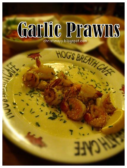 Hog's Breath Cafe: Garlic Prawns