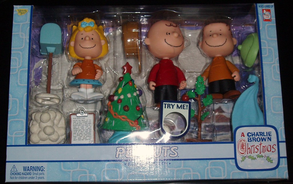 playing mantis sold them in large box sets as well as smaller packs as well these figures really hold up and have become part of my holiday decoration - When Was Charlie Brown Christmas Made